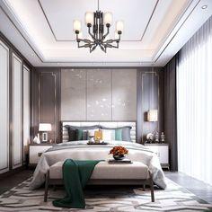 新中式卧室- 建E网3d模型分享交流平台-3d模型下载-3d模型下载网站 Chinese Interior, Home Interior, Interior Design, Wardrobe Design Bedroom, Condo Design, Living Room Tv, Decoration Bedroom, Luxurious Bedrooms, Modern Bedroom
