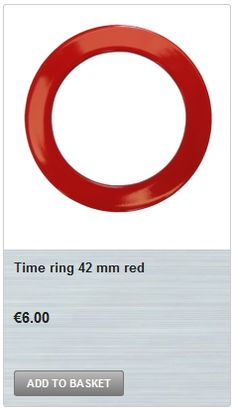 Diameter: 42 mm (1.6 inch) Depth: 4 mm (0.16 inch) Material: Spray painted glossy red steel. Wall Clock Online, Steel, Red, Steel Grades, Iron