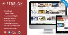 Strelok - Retina Responsive WordPress Blog Theme #wordpress