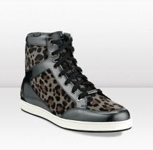 Jimmy Choo TOKYO ~ Leopard Print and Mirror Leather Sneakers