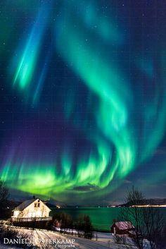 Aurora Burning over Norway / Lofoten by daniel.osterkamp, via Flickr