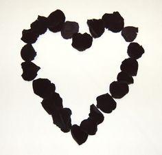 Black Rose Petals. The Confetti Blog
