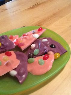 Jelly Bean Bark - we made it with Wilton's candy disks melted.