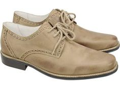 Sapato Social Masculino Em Couro Yale Nobuck Stonado - Sandro Moscoloni