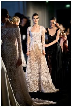 ELIE SAAB Backstage - Haute Couture Fall Winter 2014-2015 jaglady