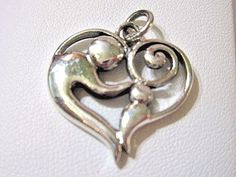 STERLING-SILVER-MOTHER-AND-CHILD-IN-HEART-PENDANT-GREAT-GIFT-CARVED-MODERN