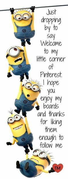 Thanks for dropping by and I really hope you enjoy reading this board. We can really learn a lot from the minions! Funny Quotes, Funny Memes, Hilarious, Minions Love, Funny Minion, Minion Humor, Minion Talk, Cliparts Free, Little Corner