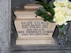 Bram Stoker -  Irish author known today for his 1897 Gothic novel, Dracula. During his lifetime, he was better known as personal assistant of actor Henry Irving and business manager of the Lyceum Theatre in London, which Irving owned.