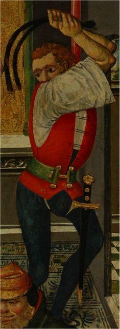 La flagelación, Martín de Soria, 1485, Iglesia de San Salvador, Museo Diocesano de Huesca (detalle)