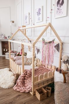 Baby Names Discover House bed Toddler bed Play house Tent bed Bunk bed Wooden playhouse Montessori bed Toddler floor bed Wood nursery Teepee bed Kids bedroom Wooden Toddler Bed, Toddler Floor Bed, Toddler House Bed, Diy Toddler Bed, Toddler Rooms, Floor Beds For Toddlers, Baby Floor Bed, House Beds For Kids, Childrens Beds