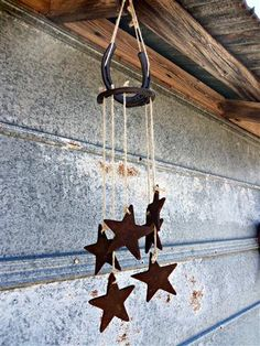Rusty star windchime by RustinRose