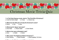 Today I have made these adorable Free Printable Christmas Movie Trivia Quiz worksheets that you can easily print using your home printer. I have collected 12 Christmas Jeopardy, Christmas Movie Trivia, Christmas Quiz, Classic Christmas Movies, Christmas Ideas, Xmas Games, Printable Christmas Games, Holiday Games, Christmas Party Games