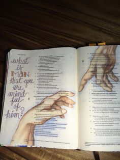Psalm 8:4-8. That GOD is mindful of me. Sherrie Bronniman - Art Journaling: In My Bible