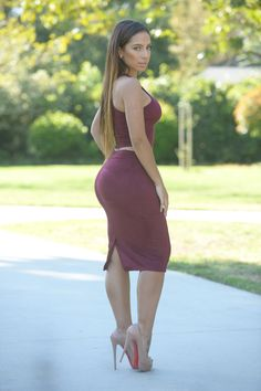 Debut Skirt - Burgundy