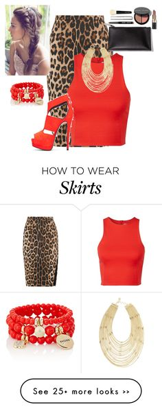 """Cheetah Skirt"" by lovemelikeyourlast on Polyvore"