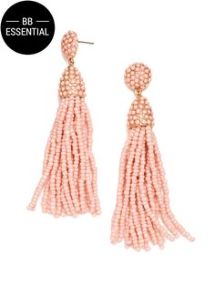 These lightweight beaded tassel earrings are a fresh and fun approach to a daytime or evening outfit.