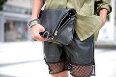 #khaki and #black #leather #Socialblissstyle