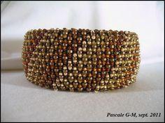 """Bracelet Caprichos """"total rocaille"""", schéma d'Unicornio"""