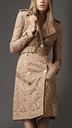 a lace burberry coat :>