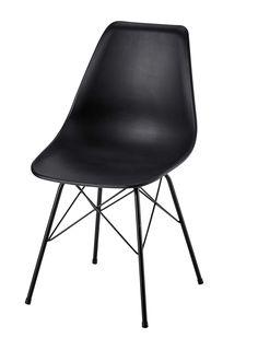 Stuhl aus Polypropylen und Metall, schwarz Cardiff