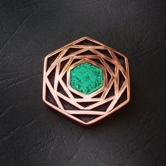 Colgante cobre, Crisoprasa (319)  // Gotas del Bosque