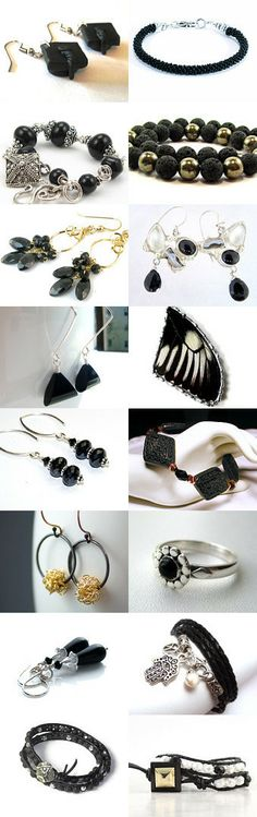 JET Black by Bob and Terry on Etsy features #black_jewelry -- inspired by the #graduation_cap_earrings by #sammysbeadworks #jewelryonetsy #jetteam