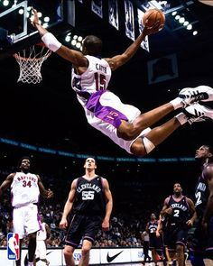 Autograph Authentic Vince Carter Toronto Raptors Autographed Air Canda Spotlight Dunk 8 x 10 in. Photo, As Shown Basketball Games Online, Basketball Photos, Basketball Posters, Basketball Legends, Sports Photos, Slam Dunk, Toronto Raptors, Sports Basketball, College Basketball