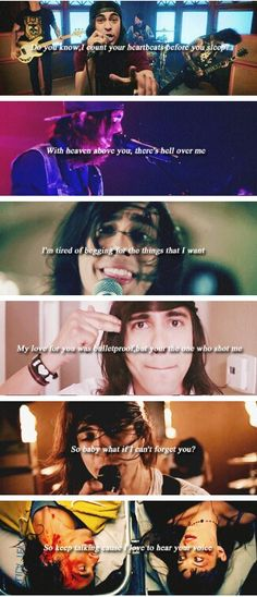 Pierce the veil songs  Vic fuentes