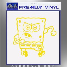 SpongeBob SquarePants Decal Sticker Angry A Decals For Car - Spongebob decals for cars