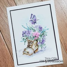 Watercolor Design, Watercolor Cards, Watercolor Flowers, Watercolor Paintings, Watercolors, Art Impressions Stamps, Wink Of Stella, Watercolour Tutorials, Copics