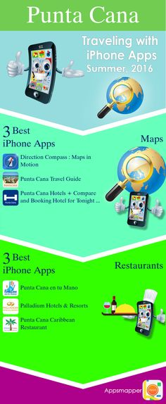 Punta Cana iPhone apps: Travel Guides, Maps, Transportation, Biking, Museums, Parking, Sport and apps for Students.