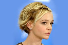 Short Braided Hairstyles You're Going To Love | Daily Makeover Short Braided Hairstyles You're Going To Love We love Carey Mulligan's adorable wavy pixie with fishtail braids! To get this look, loosely curl your lovely locks and brush them out for an undone wave. Next, separate out two sections of hair, one near the front of your hairline and one slightly beneath. Fishtail plait each section back, pinning the first braid on top of the second for a cool twisted look.