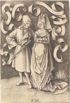 Meckenem, Israhel van German, c. 1445 - 1503 The Dissimilar Couple c. 1495/1503