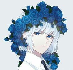 boy, art and anime image on We Heart It Anime Plus, 5 Anime, Hot Anime Boy, Cute Anime Guys, Anime Art, Blue Drawings, Otaku, Anime Lindo, Anime Kunst