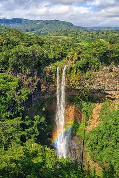 Chamarel Waterfall, Mauritius. Incredibly beautiful island and people