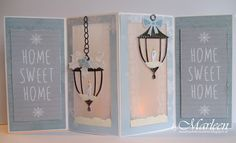 Card by DT member Marleen with Craftables Christmas Bells (CR1343) and Lantern (CR1344) by Marianne Design