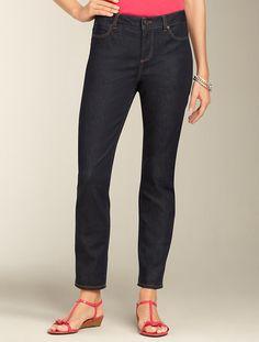 Talbots - Heritage Deep Rinse Slimming Ankle Jeans | | Misses