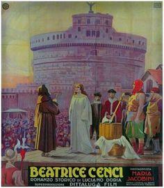 Beatrice Cenci (1926)  Director: Baldassarre Negroni (Italian Poster)
