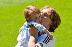 Luka Modric with his adorable son.