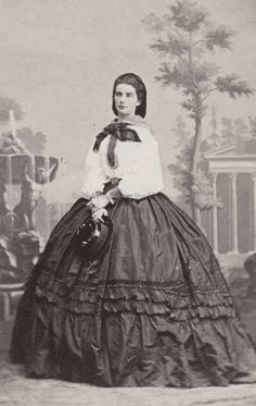Maria Sofia, Queen of Naples and the two Sicilies, neé Duchess in Bavaria. 1860s.