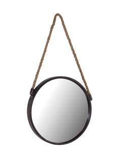 Reminiscent of an old-fashioned port hole, our Cruise mirror is made from lightweight metal with a distressed black painted finish and a rope for hanging. A great size to hang in the hallway or even a bathroom, why not team three together for a wall feat Decorative Accessories, Decorative Items, Home Accessories, Rope Mirror, Shower Units, Cox And Cox, Round Mirrors, Interior Design Services, Cool Lighting