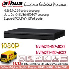 Dahua NVR 16ch 32ch 16PoE Ports 4K H.265 ONVIF Network Video Recorder 1080P CCTV NVR4216-16P-4KS2 NVR4232-16P-4KS2 Without Logo  Price: 403.00 & FREE Shipping #computers #shopping #electronics #home #garden #LED #mobiles #rc #security #toys #bargain #coolstuff  #headphones #bluetooth #gifts #xmas #happybirthday #fun Embedded Linux, 4 Channel, Decoding, Ip Camera, Electronics Gadgets, Tech Gadgets, Free Shipping, Logo, Logos