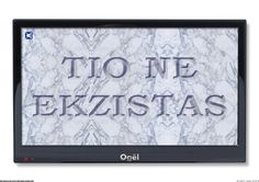 FLATSCREEN 02. CG print. Vector graphic of TV, marble and text.