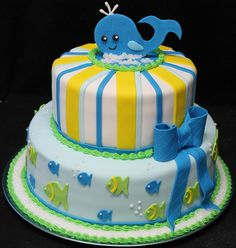 Cake Bakeries in Boston & Custom Cakes Massachusetts Pretty Cakes, Beautiful Cakes, Amazing Cakes, Whale Cakes, Water Birthday, Bakery Cakes, Candy Table, Specialty Cakes, Cake Shop