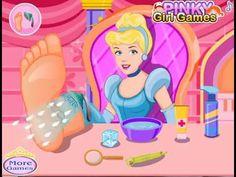 Princess Cinderella Foot Care - Disney Princess Cinderella Doctor Games