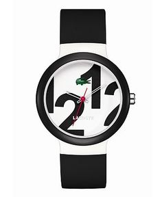Lacoste Watch, Goa Black Silicone Strap