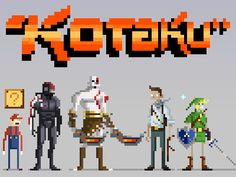 game characters of today in pixel form.