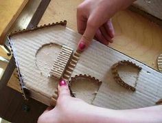 25 DIY Fairy Door Ideas from Popsicle or Wooden Craft Sticks & Rocks MyKingLis Wooden Craft Sticks, Craft Stick Crafts, Diy And Crafts, Crafts For Kids, Popsicle Crafts, Cardboard Crafts, Wooden Crafts, Paper Crafts, Cardboard Playhouse