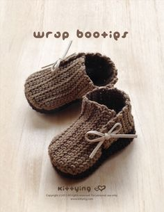 Wrap Baby Booties Crochet Pattern Kittying Crochet Pattern by kittying.com from mulu.us This pattern includes sizes for 0 - 12 months.