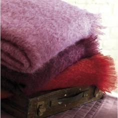 Yves Delorme Mohair Blankets
